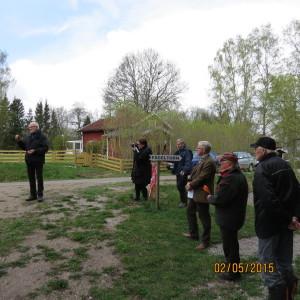 Owe Janerin ger en liten sammanfattning av projektet och tackar alla som stött det. Fotograf: Lillemor Däckfors.