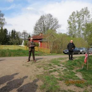 Invigningstalarna: Johan Hamilton och Owe Janerin. Fotograf: Lillemor Däckfors.